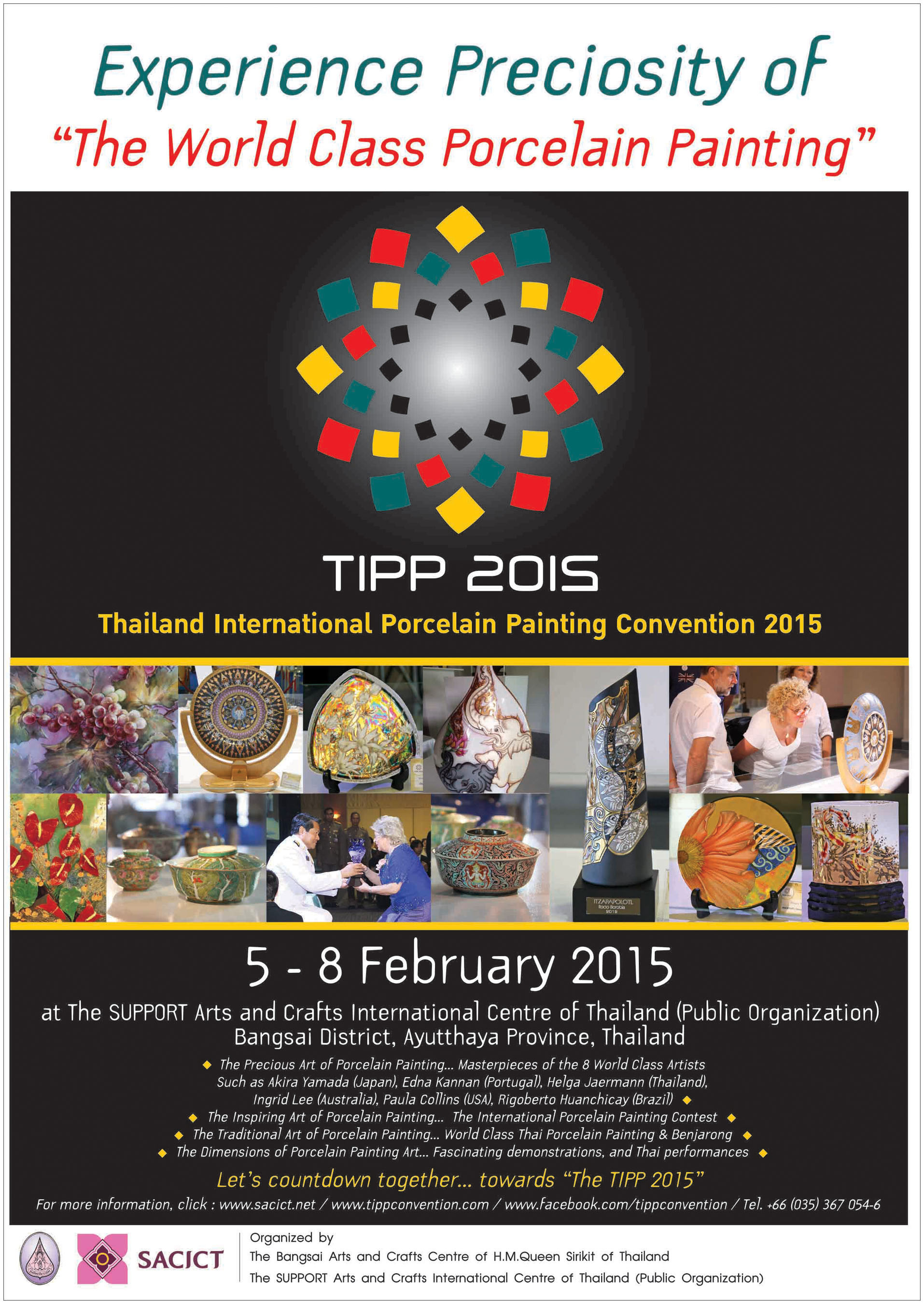 Thailand International Porcelain Painting Convention 2015 is Announced, Feb. 5