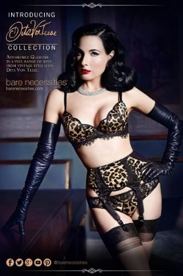 Dita Von Teese Debuts Collection for Bare Necessities