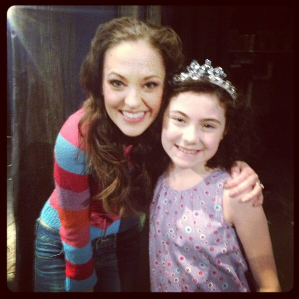 Twitter Watch: Laura Osnes-'Sweetest Princess on Broadway...Loved Seeing Lilla Crawford Today!'