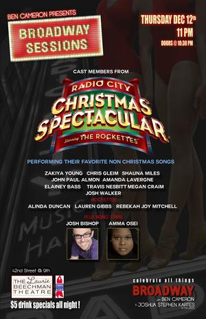 Rockettes and More Set for BROADWAY SESSIONS Tonight