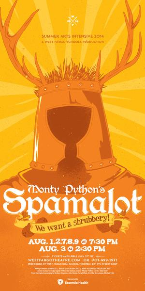West Fargo Summer Arts Intensive to Stage Monty Python's SPAMALOT, 8/1-9