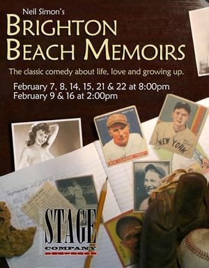 BRIGHTON BEACH MEMOIRS Set for Canton Town Hall, Beg. Tonight