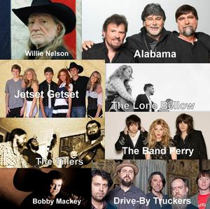 Buckle Up Festival to Feature Willie Nelson, Alabama and More, 7/18-20