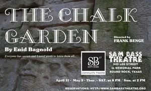 THE CHALK GARDEN Opens Tonight at Sam Bass Theatre