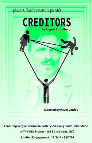 David Grieg's CREDITORS to Open This Week With Phoenix Theatre Ensemble