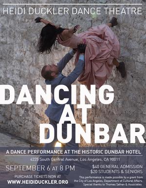 Heidi Duckler Dance Theatre to Celebrate South L.A. at the Dunbar Hotel, 9/5-6