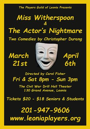 PGL to Present Christopher Durang's MISS WITHERSPOON & THE ACTOR'S NIGHTMARE, 3/21-4/6