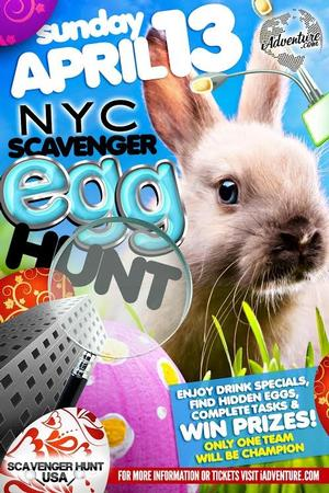 iAdventure to Stage 3rd Annual Pre-Easter Egg Scavenger Hunt in NYC, 4/13