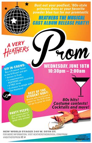 A VERY HEATHERS PROM to Celebrate Cast Album Release 6/18 at New World Stages