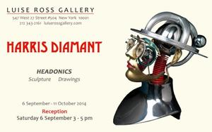 Harris Diamant's HEADONICS Exhibition to Open 9/6 at Luise Ross Gallery