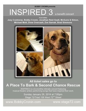 INSPIRED 3 Benefit Concert with Bobby Cronin, Joey Contreras & More Set for 1/26