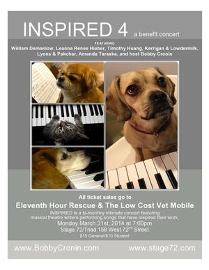 INSPIRED 4 Benefit Concert with Bobby Cronin, Kerrigan and Lowerdmilk & More Set for 3/31
