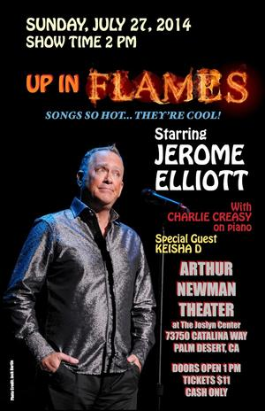 Jerome Elliott Debuts New Cabaret Show at the Arthur Newman Theater, 7/27