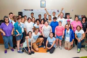 The Cast of MAMMA MIA! Visits Opportunity Village