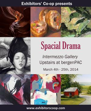bergenPAC March Art Gallery Showcases Spacial Drama Presented by Exhibitor's Co-Op
