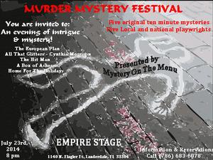 Mystery on the Menu Presents MURDER MYSTERY FESTIVAL Tonight