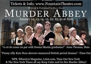 MURDER ABBEY Comes to the Fountain, 1/12-31