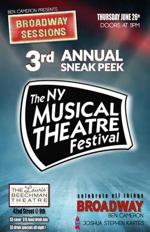 Broadway Sessions offers NYMF Sneak Peek, 6/26