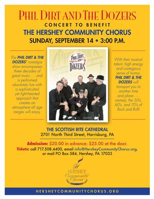 Phil Dirt & The Dozers Set for Benefit Concert for The Hershey Community Chorus, 9/14