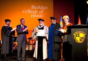 Tenor and Conductor Placido Domingo Awarded Honorary Doctorate at Berklee in Valencia, Spain