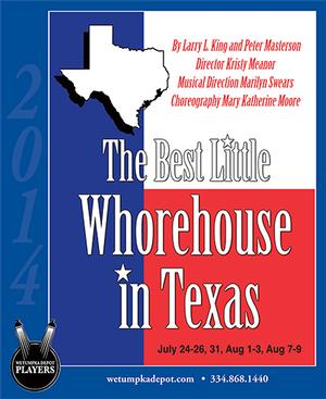 Wetumpka Depot's THE BEST LITTLE WHOREHOUSE Begins Tonight