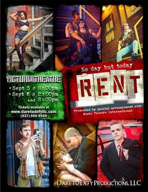 Dare to Defy Productions to Stage RENT, 9/5-6