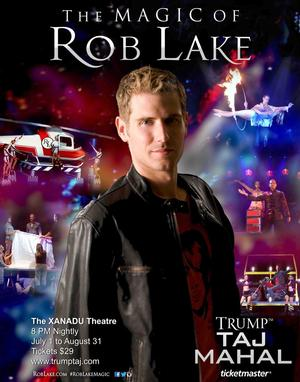 Illusionist Rob Lake Makes Home at Atlantic City's Trump Taj Mahal and Shoots New CW series