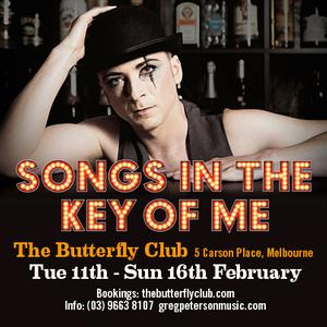 Greg Peterson to Make Cabaret Debut as Composer/Lyricist With SONGS IN THE KEY OF ME, Feb 11-16