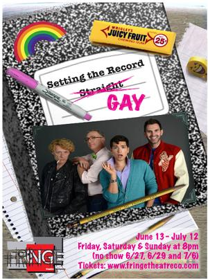 Fringe Theatre Company Presents SETTING THE RECORD GAY, Also Available on Hulu