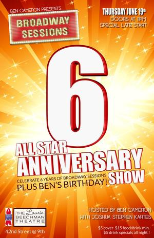 Broadway Sessions Celebrates 6th Anniversary Tonight, 6/19