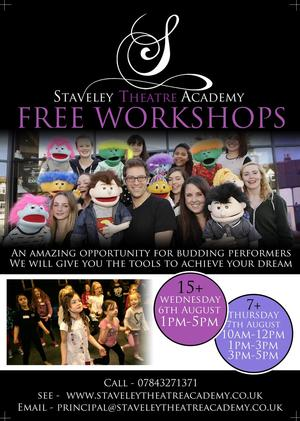 Staveley Theatre Academy to Host Free Musical Theatre Workshops This August