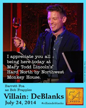 VILLAIN: DEBLANKS Continues Tomorrow at 54 Below with Hunter Ryan Herdlicka, Christine Pedi and More