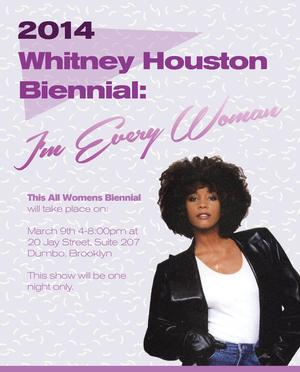 2014 WHITNEY HOUSTON BIENNIAL Set for Dumbo, Brooklyn, 3/9
