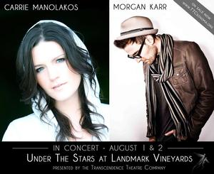 Transcendence Theatre Company to Present Carrie Manolakos & Morgan Karr in Concert, 8/1-2