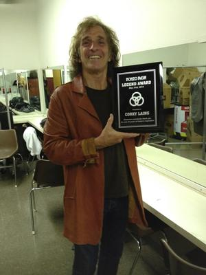 Drum Legend Corky Laing is Presented the Bonzo Bash Legend Award
