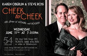 Karen Oberlin and Steve Ross to Sing Astaire and Rogers 6/11 at 54 Below