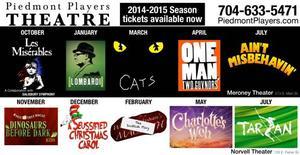 Piedmont Players Theatre Announces 54th Season