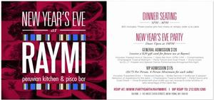 Celebrate New Year's Eve with Richard Sandoval at Raymi Peruvian Kitchen and Maya Modern Mexican Tequileria