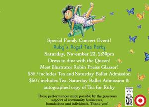 Metropolitan Ballet to Present TEA FOR RUBY, 11/23-24