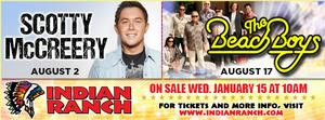Scotty McCreery and The Beach Boys Join Indian Ranch's Aug 2014 Lineup