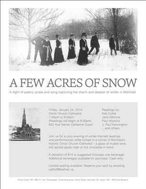 Christ Church Cathedral to Host A FEW ACRES OF SNOW Outreach Event, 1/24