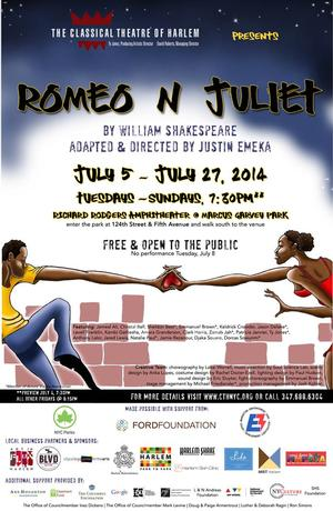 Classical Theatre of Harlem's ROMEO N JULIET Enters Final Week