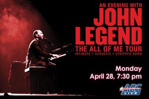John Legend to Play King Center, 4/28