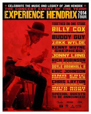 Experience Hendrix to Play Mesa Arts Center in October; Tickets On Sale Saturday, June 21