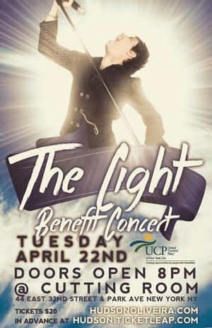 THE LIGHT BENEFIT CONCERT, Featuring Hudson Oliveira, to Play The Cutting Room, 4/22