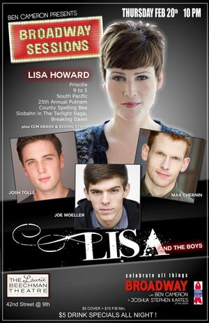 Lisa Howard, Max Chernin, Josh Tolle and Joe Moeller to Perform at this Week's BROADWAY SESSIONS