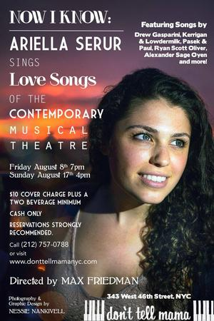 Ariella Serur's NOW I KNOW to Feature Songs by Gasparini, Oliver and More, 8/8 & 8/17