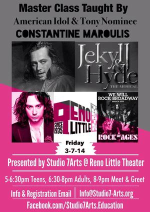 Constantine Maroulis to Teach Master Class at Reno Little Theatre, 3/7