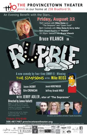 Mike Reiss Joins Bruce Vilanch and Jerry Adler in RUBBLE at The Provincetown Theater Tonight