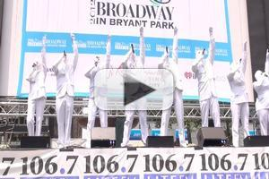 BWW TV: VOCA PEOPLE Performs at Broadway in Bryant Park 2012!